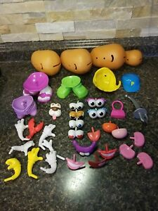Hasbro Mr./Mrs. Potato Head Lot 36 Parts & Pieces Bodies/Eyes/Arms/Shoes+