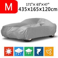 M - Foldable Waterproof Dust Rain Resistant UV Outdoor Full Auto Car Sedan Cover