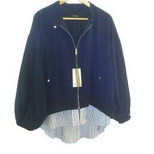 NWT Zara blue bomber jacket Size XXL
