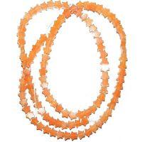 "NG2196f Red Aventurine 4mm Flat Star Natural Gemstone Beads 16"""