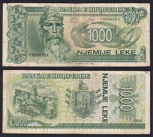 Albania 1000 leke 1995 BB-/VF-  B-10