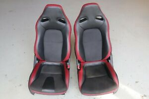 Nissan R35 GTR GT-R Factory Electric Seats Red Black Leather J154