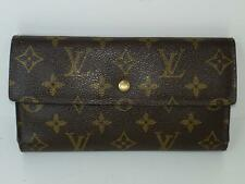 LOUIS VUITTON Long Wallet Monogram International Trifold Authentic