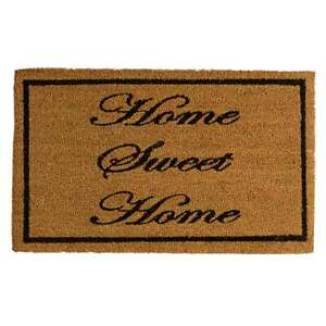 Zerbino in cocco Home Sweet Home 45x75 cm retro antiscivolo - Avana R158