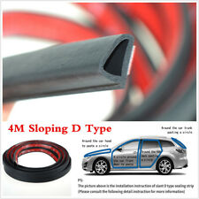 4M Sloping D Type Moulding Weatherstrip Seal Strip For Car Door Window Trim Edge