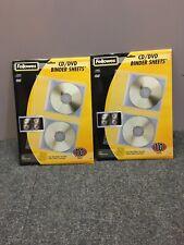 CD Binder Sheets Fellowes 95304 10 packs x 2, 20 sheets