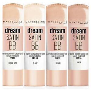 MAYBELLINE Dream Satin BB Skin Perfecting Cream 30ml SPF30 - CHOOSE SHADE - NEW