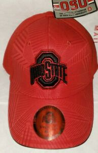 red OHIO STATE BUCKEYES OSU FOOTBALL NCAA Lightweight Stretch Fit Hat S/M NWT