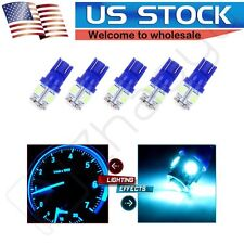 5x T10 W5W 194 168 5-5050-SMD LED License Plate Blue Light Lamp Bulb