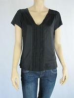 Basque Ladies Short Sleeve Fashion Top sizes 8 10 Colour Black