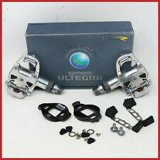 NOS SHIMANO SPD ULTEGRA PD-6600 PEDALS CLEATS CLIPLESS QUICK RELEASE ROAD RACING