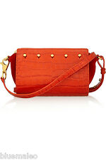 NWT Alexander Wang Pelican Sling Croc Effect Leather Suede Bag