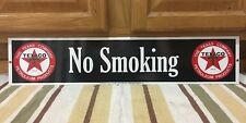 No Smoking Texaco Gas Station Metal Sign Vintage Style Car Truck Oil Pump