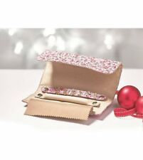 Jewellery Roll & Earring Set, Pink Floral Travel Case, New, RRP £26