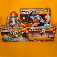 STAR WARS REBELS AT-DP PHANTOM ATTACK SHUTTLE INQUISITOR'S TIE + CHOPPER TOY LOT