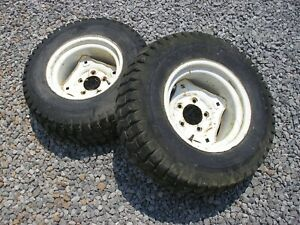 Gravely 8173-KT Tractor Armstrong Rear Turf Tires Rims 23x8.50-12