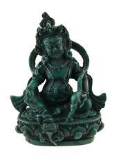 Jambhala Statue tibetaine Dieu des Richesses Vaishravana turquoise 10 cm 25542