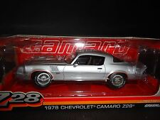 Greenlight Chevrolet Camaro Z28 1978 Silver 1/18 Limited Edition