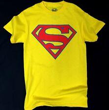 DC Comics SUPERMAN Shield Logo Yellow T-Shirt NWT Licensed & Official RARE!!!
