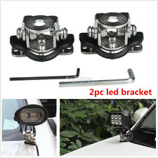 2PCS A Pillar Hood Led Work Light Bar Car Mount Bracket Holder For Offroad 304