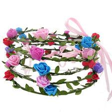 1X Boho LED Flashing Floral Flower Hairband Headband Light-Up Wedding