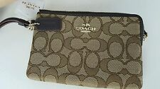 Coach Wristlet Wallet Ladies Khaki and Brown Canvas  New with tag USA Seller