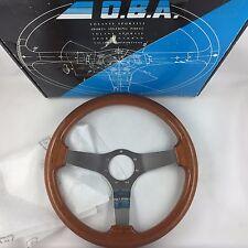 Genuine OBA wood rim 350mm car steering wheel. Superb condition! Classic retro.
