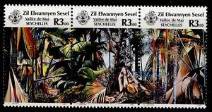 SEYCHELLES - Zil eloigne sesel QEII SG162-164, 1987 tourism horiz set, NH MINT.