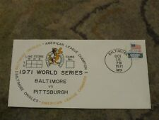 1971 World Series Baltimore vs Pittsburgh FIRST DAY Cover