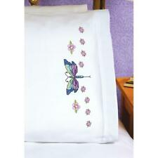 Janlynn Premium Pillow Cases 2pk for Stamped Cross Stitch Dragonfly 1774