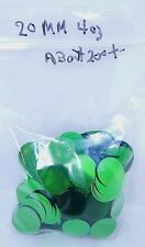 4oz. Metallic Green 20mm Round ST PATRICK'S DAY/party CONFETTI About(200+-) NEW