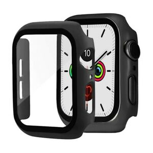 Case for Apple Watch Series 4/5/6 and Watch SE 44mm Screen Protector Cover Black