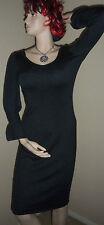 SPIEGEL XS NWT Dark Gray Cashmere Silk Knit Sweater Dress XS Signature Luxury