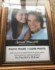 5X7 Copper Color Beveled Interior Photo Picture Frame by Special Moments NEW