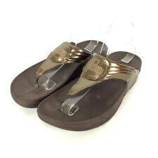 FitFlop Walkstar 3 Sandals Womens Size 9 Bronze Metallic Flip Flop Thong