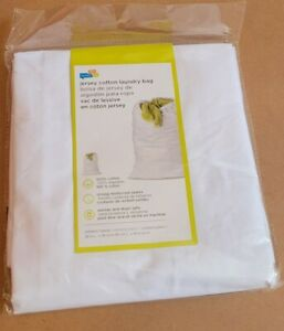 (TWO PACK) HONEY-CAN-DO Cotton Laundry Bag. White. 24 in L x 36 in H. LBG-01140
