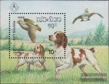 Laos Bloc 113 (complète edition) neuf avec gomme originale 1986 Chiens
