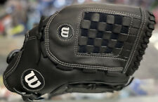 "black WILSON A360 ADULT 14"" SOFTBALL GLOVE right-handed thrower"