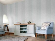 Holden Decor Arden Grey Bold Wide Stripe Wallpaper Two Tone Paste The Wall Thick