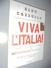 DVD ALDO CAZZULLO VIVA L'ITALIA SPETTACOLO TEATRALE LUCIO DALLA