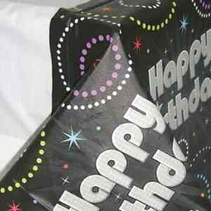 Time to Party Black Silver 21st Birthday Party Decoration Plastic Tablecover