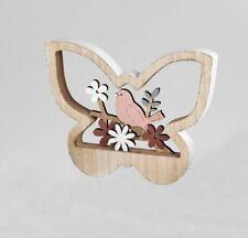 7,5x62 cm Dekohänger Hängedeko Fensterdeko Schmetterling aus Holz im rosamix
