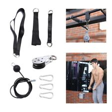 Fitness Pulley Cable Gym Workout Equipment Machine DIY Attachment System Home US