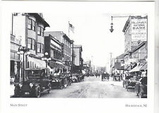 "~Post Card-""Main Street"" -Replaced by Motorcars-*Hackensack, New Jersey ( #201)"
