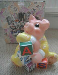 Rare Paul CARDEW Baby BANKER Piggy Money Box Piggybank Natwest Woody PIG unusual