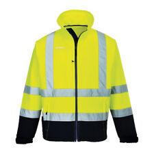 Portwest S425 Hi-Vis Contrast Water-Rresistant Softshell Jacket - Yellow/Navy