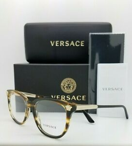 NEW Versace RX Frame Classic Glasses VE3242 5202 54 Striped Havana AUTHENTIC cat