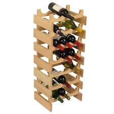 Wooden Mallet 21-Bottle Unfinished Dakota Wine Rack NEW