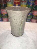 Nice studio ceramic art Pottery Vase w/impressed Artist Mark. Potter Unknown.