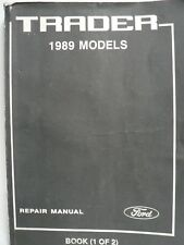 Used FORD TRADER 1989 Models Repair Manual, 2 Vols Part 1 And 2